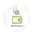 bitcoin drop into wallet - crypto wallet simple vector image vector image