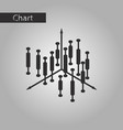 black and white style icon economic chart vector image vector image