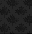 Black textured plastic maple leaves countered with vector image vector image