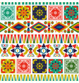 bohemian folk abstract patchwork seamless pattern vector image