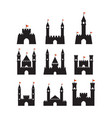 castle graphic design template isolated vector image vector image