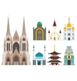 Cathedrals and churches vector image vector image