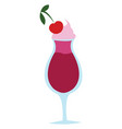 cherry drink on white background vector image