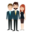 chracter men and woman team human resources design vector image