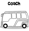 Coach bus of transportation vector image vector image