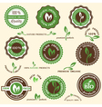 Collection of organic labels and icons vector image