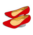 color sketch of female shoes vector image