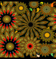 colorful ethnic gipsy style floral paisley vector image vector image