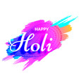 creative holi design with colors splash vector image vector image