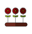 cultivated flower garden icon vector image vector image