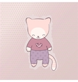 Cute cat clothing vector image vector image