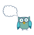 Cute Decorative Owl Lacy bird vector image