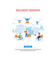 delivery service vertical banner with copy space vector image vector image