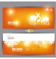 Elegant christmas banners with deers with p vector | Price: 1 Credit (USD $1)