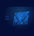 email low poly blue vector image vector image