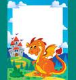 fairy tale theme frame 3 vector image vector image