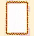 frame and border of ribbon with sri lanka flag vector image