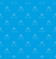 fresh loaf pattern seamless blue vector image