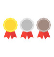 gold silver bronze medal 1st 2nd and 3rd places vector image
