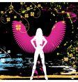 grunge angel vector image vector image
