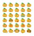 Halloween pumpkin emoji emoticons vector image vector image