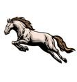 hand drawn running mustang horse vector image vector image