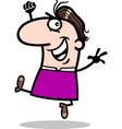 happy man cartoon vector image