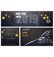 happy new year design layout on black vector image