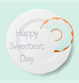 happy sweetest day vector image vector image