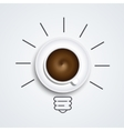 idea with coffee modern busines background vector image vector image