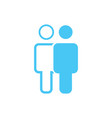 linear and flat man an woman icon simple flat vector image vector image