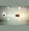 luminant bulb idea concept vector image vector image