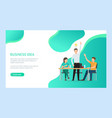 man and woman creating business ideas web vector image