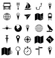 map icon set vector image