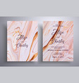 modern collection wedding invitations with vector image vector image