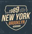 new york athletic sport typography for t shirt vector image vector image