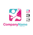 parenting care logo design template vector image vector image