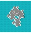 puzzle pieces design vector image vector image