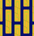 Retro 3D blue green and orange zigzag cut with vector image vector image