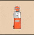 retro style gas station pump artwork vintage hand vector image vector image
