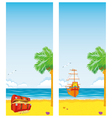 sea and islands vector image vector image