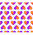 seamless rainbow realistic heart pattern a vector image vector image