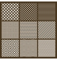 set 9 simple seamless monochrome patterns vector image vector image