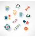Set of colorful business icons made in modern flat vector image