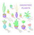 set of isometric plants vector image vector image