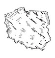 sketch of a map of poland vector image vector image