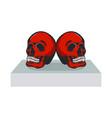 skull monocrome head charactre vector image vector image