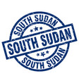 south sudan blue round grunge stamp vector image vector image