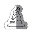 sticker silhouette monochrome of microscope tool vector image vector image
