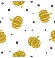 stylish golden pumpkins background vector image vector image